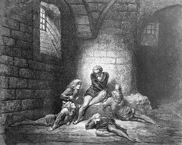 Charcoal Drawing Photograph - Prison Doldrums by Douglas Barnett