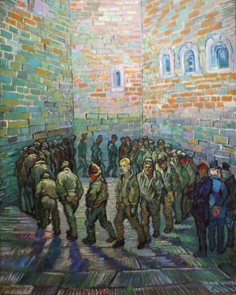 Painting - Prisoners Exercising Van Gogh 1890 by Vincent Van Gogh