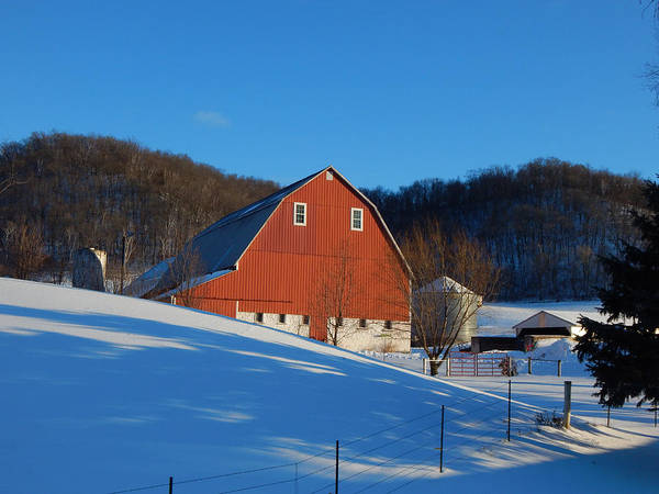 Photograph - Pristine Farm On A Winter Afternoon by Wild Thing