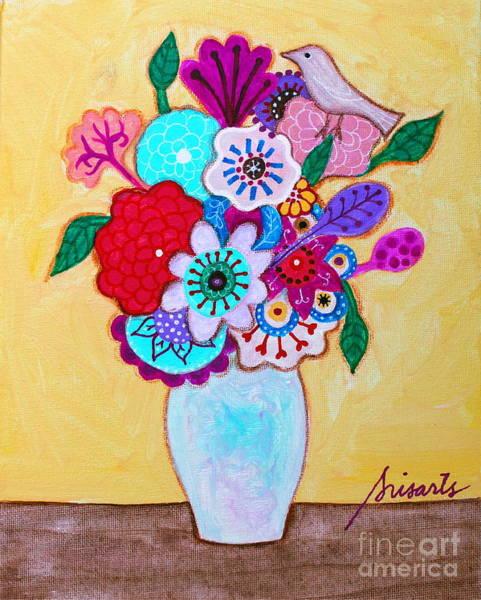 Painting - Pristine Florals - 1601 by Pristine Cartera Turkus