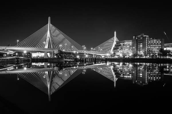 Photograph - Pristine Reflections At Zakim Bridge by Kristen Wilkinson