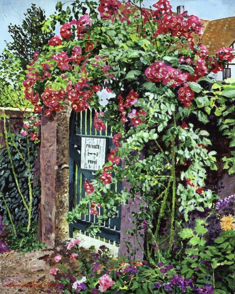 Painting -  Private English Garden by David Lloyd Glover