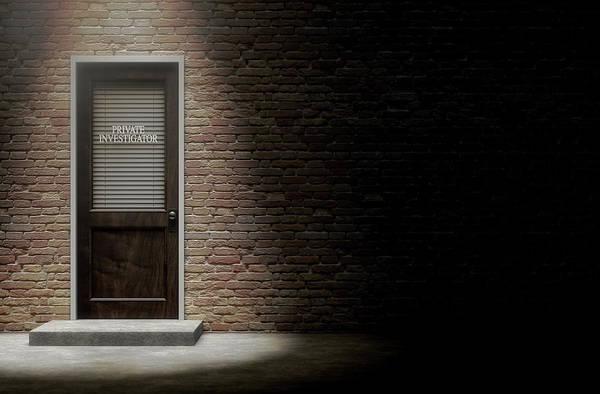 Doorway Digital Art - Private Eye Door Outside by Allan Swart