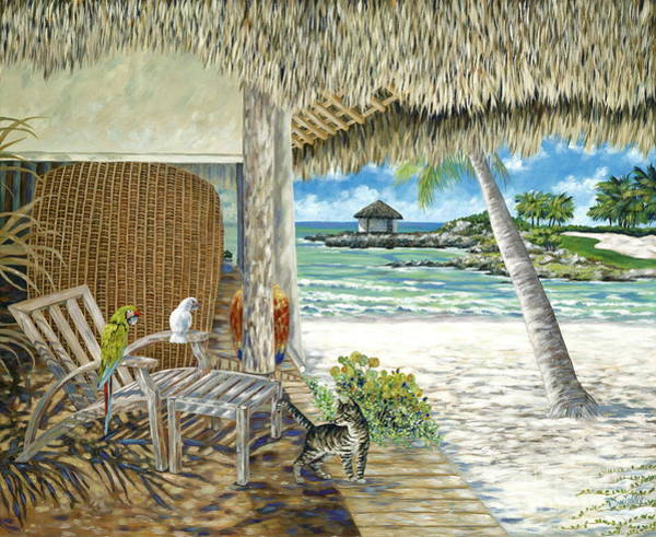 Cana Island Wall Art - Painting - Private Island by Danielle  Perry