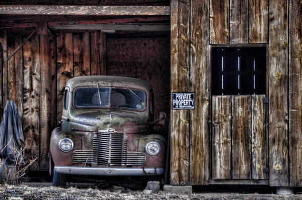 Pick Up Truck Photograph - Private Parking by Ken Smith