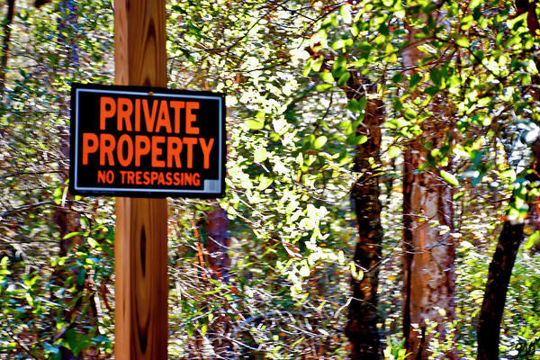 Photograph - Private Property by Gina O'Brien