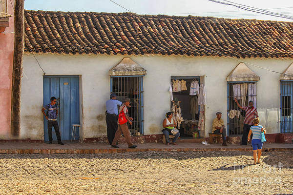 Self Employment Photograph - Private Shops On A Street In Trinidad, Cuba by Patricia Hofmeester