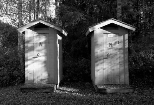 Wall Art - Photograph - Privy Pair by Daniel Hagerman