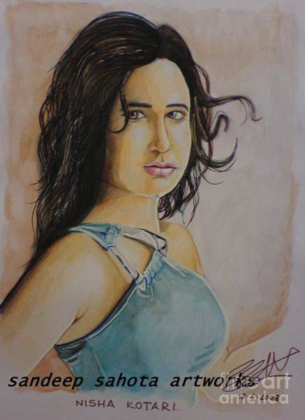 Transformer Painting - Priyanka Kothari by San Art Studio