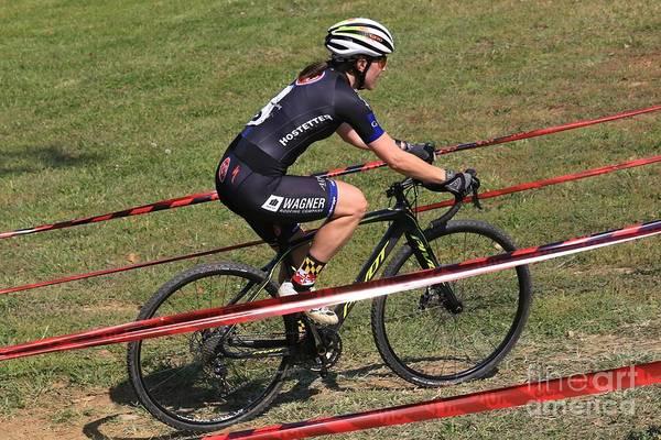 Carbon Fiber Photograph - Pro Cyclocross Bicycling Race by Douglas Sacha