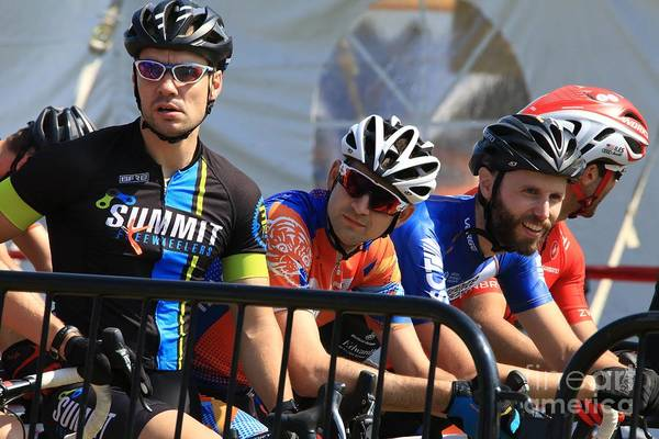 Carbon Fiber Photograph - Pro Cyclocross Cycling Event by Douglas Sacha