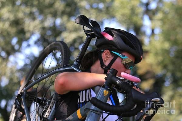 Carbon Fiber Photograph - Pro Cyclocross Extreme Cycling by Douglas Sacha