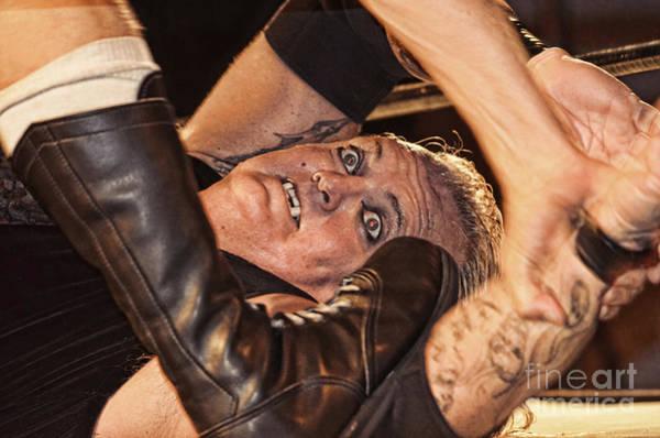 Pro Wrestler Wall Art - Photograph - Pro Wrestler Gangrel Down But Not Out By A Long Shot by Jim Fitzpatrick