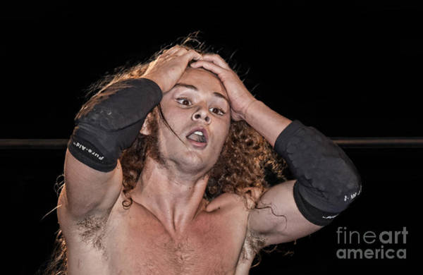 Pro Wrestler Wall Art - Photograph - Pro Wrestler Jungle Boy Shocked By His Opponent's Actions by Jim Fitzpatrick