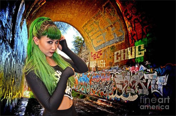 Pro Wrestler Wall Art - Photograph - Pro Wrestler Shotzi Blakk Heartt In Her Secret Hideout  by Jim Fitzpatrick