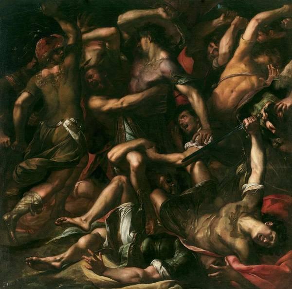 Procaccini Painting - Procaccini, Giulio Cesare Bolonia, 1574 - Milan, 1625 Samson And The Philistines Ca. 1625 by Procaccini