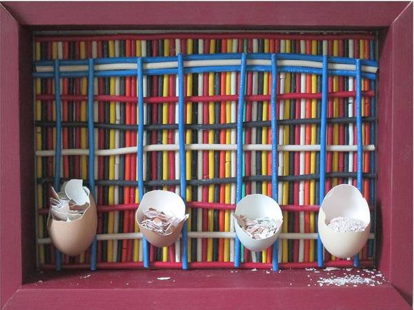 Broken Egg Painting - Processing Feed by Bob Farrell