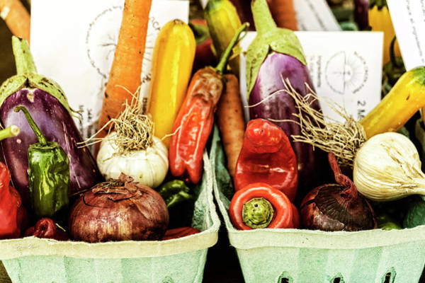 Photograph - Produce Baskets by Sharon Popek