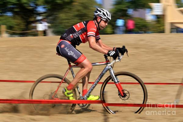 Carbon Fiber Photograph - Professional Cyclocross Extreme Cycling by Douglas Sacha