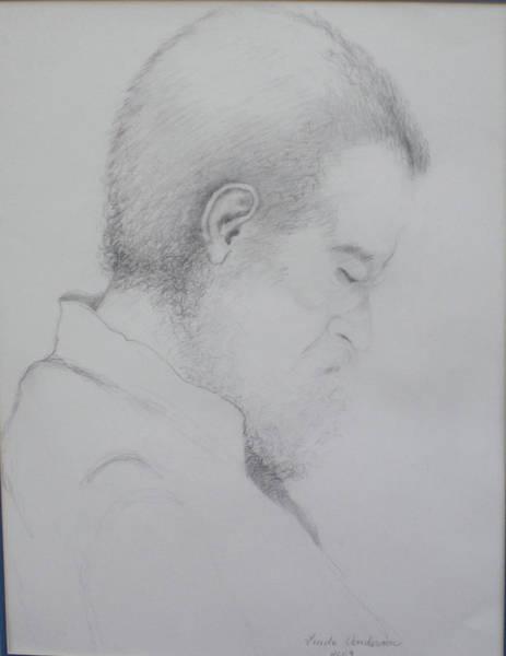 Drawing - Professor Dan by Linda Anderson