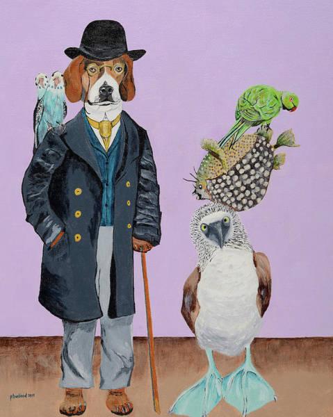 Boobies Painting - Professor Paddywack And His Traveling Circus by Pamela Trueblood