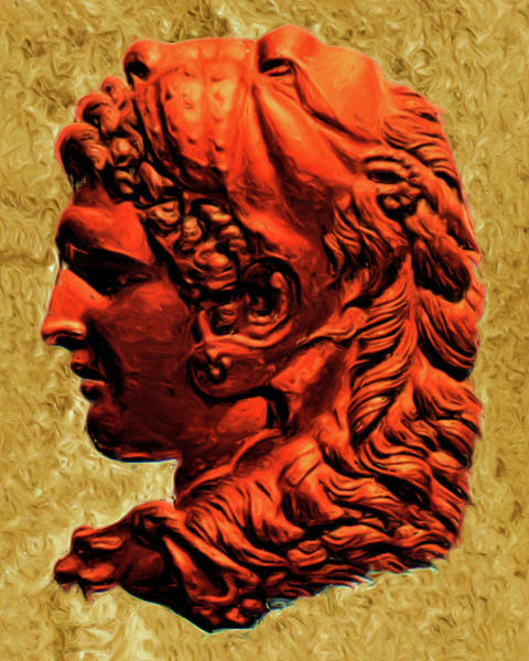 Painting - Profile Of Alexander The Great by Troy Caperton