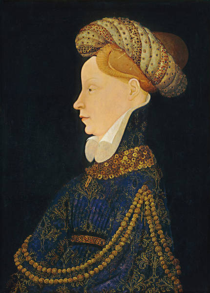 Painting - Profile Portrait Of A Lady by 15th Century