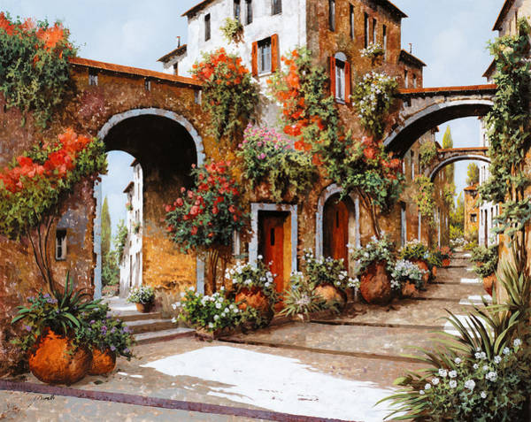 Village Painting - Profumi Di Paese by Guido Borelli
