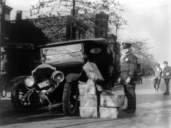 1920s Photograph - Prohibition, A Policeman Standing by Everett
