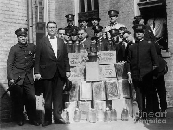 Cops Photograph - Prohibition Bust by Jon Neidert