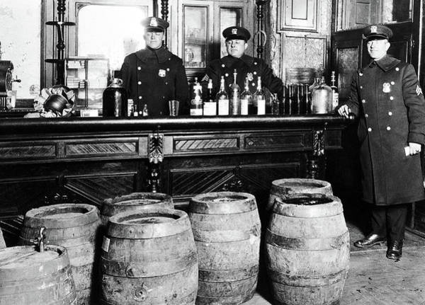 Photograph - Prohibition - Cops Busting A Speakeasy by Bill Cannon