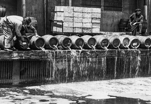 Down The Drain Wall Art - Photograph - Prohibition - Down The Drain by Bill Cannon