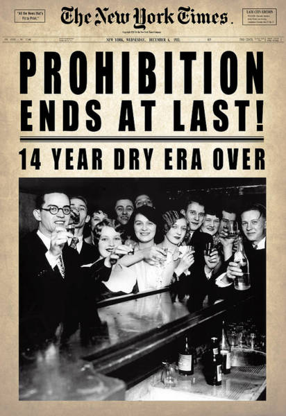 Front Digital Art - Prohibition Ends At Last  1933 by Daniel Hagerman