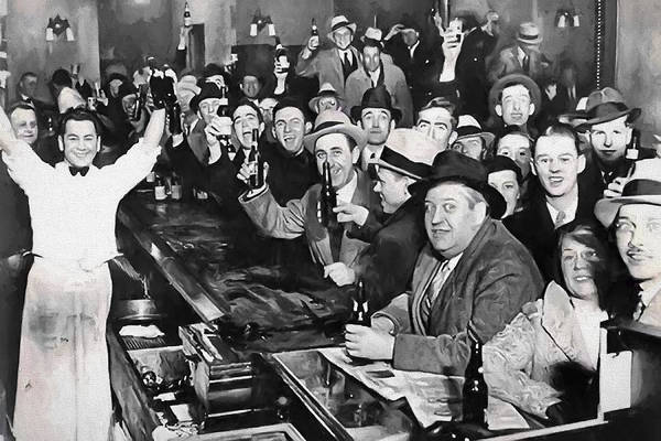 Prohibition Digital Art - Prohibition Ends Celebration Dec 5, 1933 by Daniel Hagerman