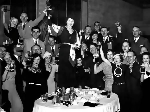 Prohibition Digital Art - Prohibition Ends Party 1933 by Daniel Hagerman