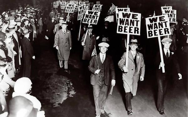 Wall Art - Photograph - Prohibition Era Protest C. 1925 by Daniel Hagerman