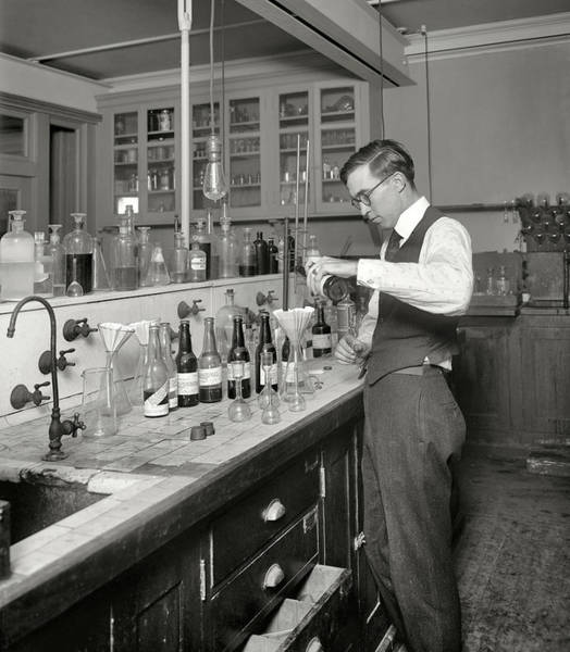 Wall Art - Photograph - Prohibition - Government Bootleg Liquor Testing Lab by Daniel Hagerman