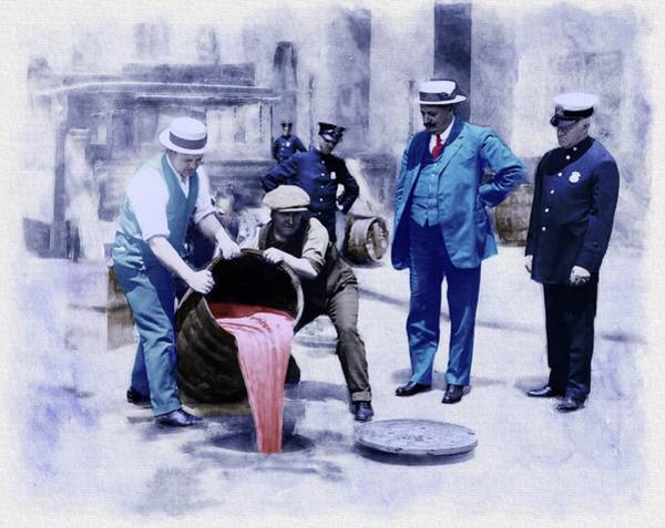 Photograph - Prohibition In New York City - Remastered by Carlos Diaz