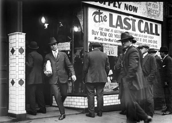 Moonshine Photograph - Prohibition Last Call - Detroit - 1919 by Daniel Hagerman