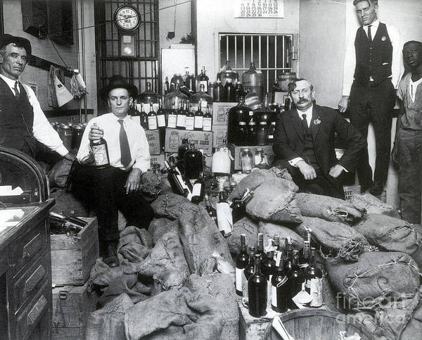 Wall Art - Photograph - Prohibition, Texas Bootlegger Booty by Science Source