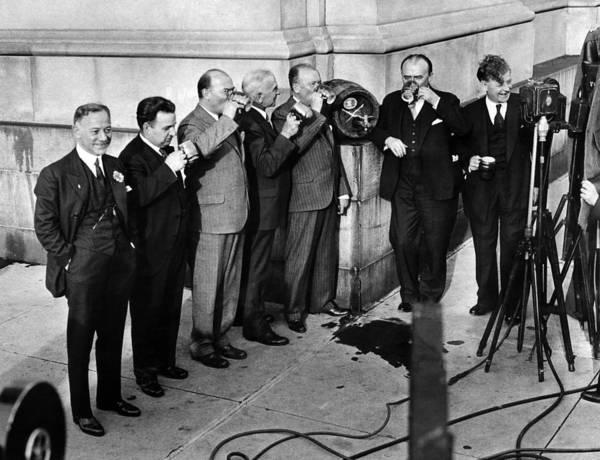 John I Photograph - Prohibition Wet Congressmen Drinking by Everett