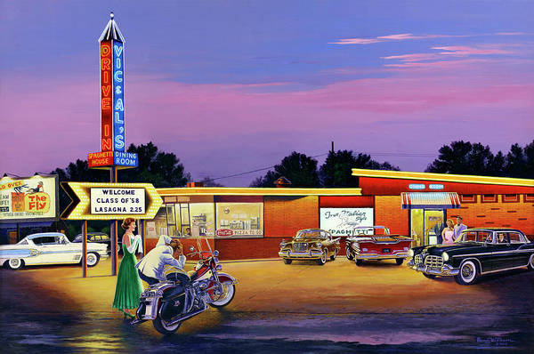 Painting - Prom Night - Vic And Al's by Randy Welborn