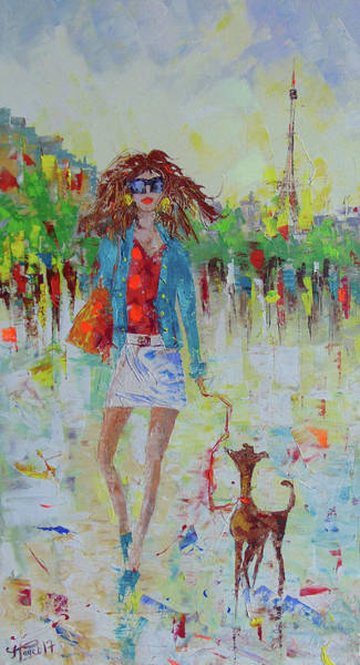 Painting - Promade Avec Mon Chien by Frederic Payet