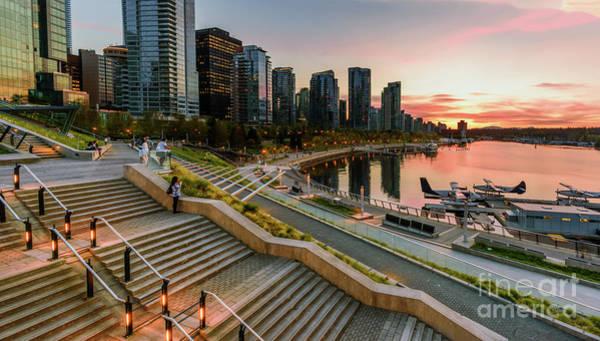Evening Wall Art - Photograph - Promenade In Vancouver. by Viktor Birkus