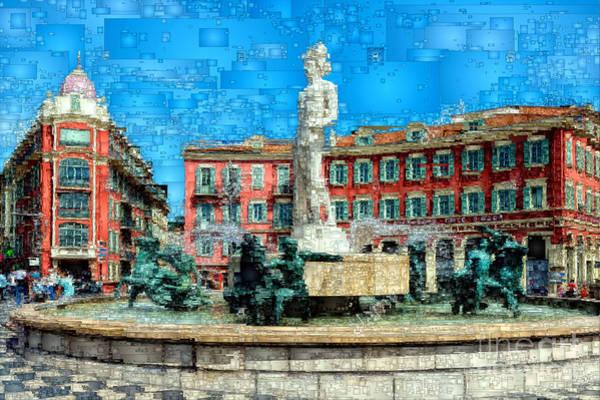 Digital Art - Promenade Of The English, Nice France by Rafael Salazar