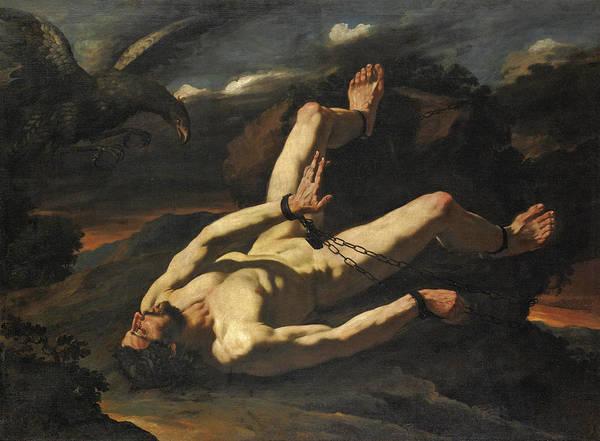 Cesare Painting - Prometheus Bound by Cesare Fracanzano