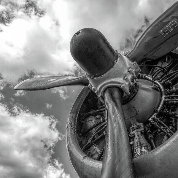 Wall Art - Photograph - Prop Engine by Mike Burgquist