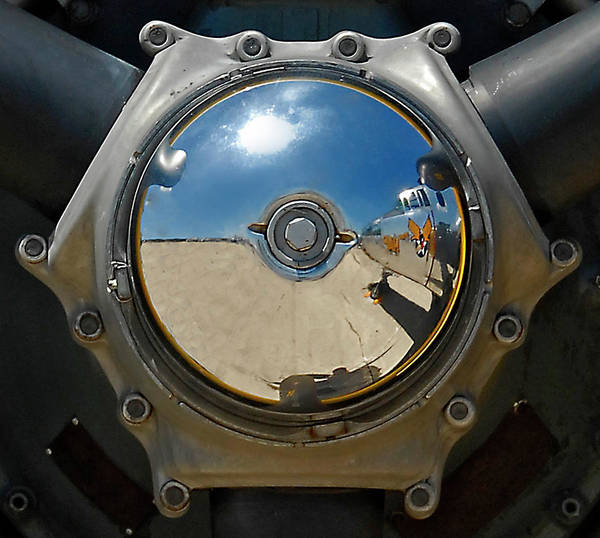 Radial Engine Photograph - Propeller Hub by Murray Bloom
