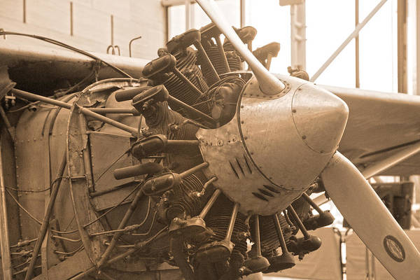 Vintage Airplane Photograph - Propelling History by Betsy Knapp