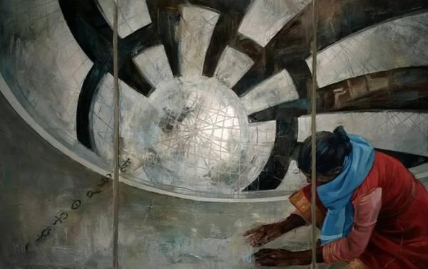 Sacred Ground Painting - Prophecy by Galina Hristova